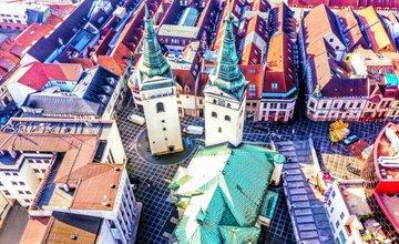 FOTO: Centrum Žiliny aj okolie na panoramatických záberoch