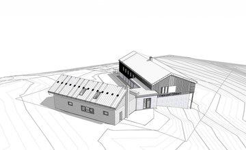 Vizualizácia rekonštrukcia a prístavba Chata pod Chlebom
