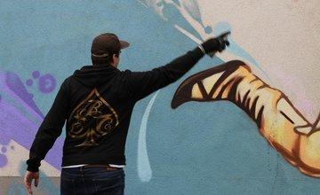 Street-art maľba na sídlisku Solinky v Žiline