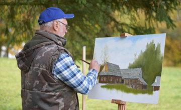 Dvadsať maliarov z Klubu neprofesionálnych výtvarníkov sa zdokonaľovalo v technike kresby a maľby