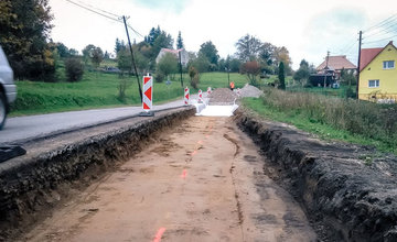 Oprava poškodenej cesty v úseku Semeteš - Turzovka