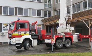 FOTO: Taktické cvičenie - požiar Dom techniky Žilina