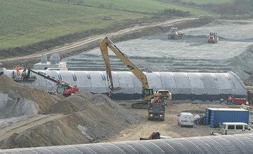 FOTO: Aktuálny stav prác na stavbe diaľničného privádzača 25.11.2019
