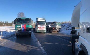 Štrajk autodopravcov na Orave 8.1.2020