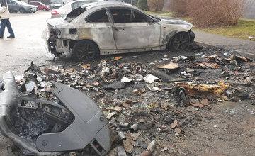 Požiar kontajnerov a osobných vozidiel na sídlisku Solinky 18.2.2020