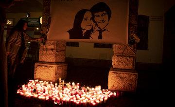 FOTO: Spomienka v Žiline na druhé výročie zavraždenia Jána a Martiny