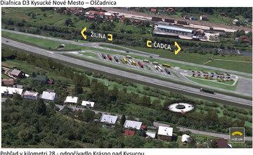 Vizualizácie diaľničného úseku D3 - Kysucké Nové Mesto - Oščadnica