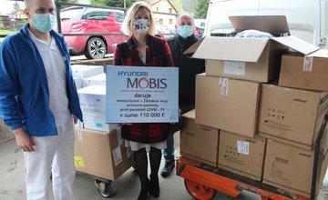 Mobis Slovakia dar nemocniciam v boji proti COVID-19