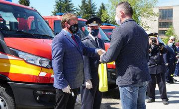 Odovzdanie nových vozidiel pre dobrovoľné hasičské zbory v Žilinskom kraji 22.5.2020