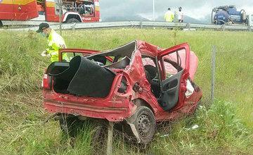 FOTO: Na ceste prvej triedy v Martine došlo k zrážke osobného auta s nákladným