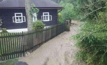 FOTO: Prívalový dážď na Kysuciach 2.7.2020