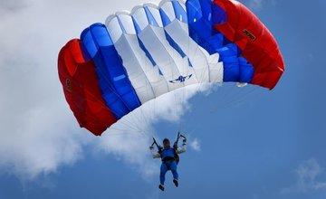 Vrtuľník nad Žilinou a zoskoky výsadkárov 2020