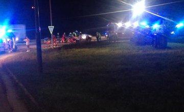 FOTO: Vážna dopravná nehoda pri Tepličke nad Váhom 11.9.2020