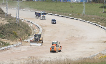 FOTO: Aktuálny stav prác na stavbe diaľničného privádzača 14.09.2020