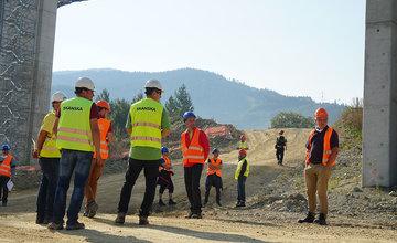 FOTO: Obhliadka stavby diaľničného úseku D1 Lietavská Lúčka - Višňové - Dubná Skala