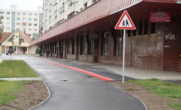 FOTO: Na sídlisku Solinky bola dokončená výstavba cyklotrasy vedúcej do centra mesta