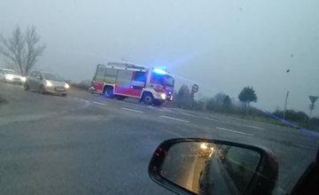 FOTO: Ranná dopravná nehoda pri Mojšovej Lúčke 24.11.2020