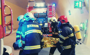 FOTO: Taktické cvičenie v diaľničnom tuneli Ovčiarsko pri Žiline - 8.12.2020