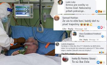 FOTO: V nemocniciach pribúdajú pacienti s koronavírusom, jeho existenciu mnohí ľudia spochybňujú