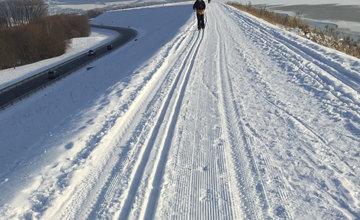 FOTO: Na Vodnom diele Žilina bola vytvorená trať pre bežkárov vedúca až do obce Varín