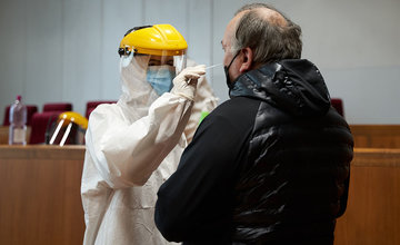 FOTO: Skríningové testovanie v Žiline 23. januára 2021
