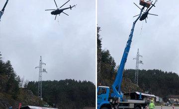 FOTO: Cestu pod Strečnom krátkodobo uzatvárajú z dôvodu leteckých prác na elektrickom vedení