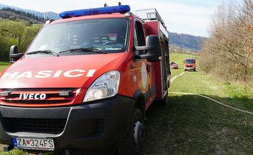 FOTO: Les medzi Rosinou a Trnovým je v plameňoch, zasahuje množstvo hasičov
