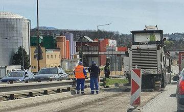 FOTO: Rekonštrukcia vozovky na ulici Ľavobrežná v Žiline