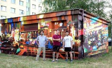 FOTO: Na Solinkách pribudol ďalší streetart, skrášlil fasády trafostanice pri zastávke Jaseňová