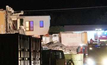 FOTO: Zrútenie rodinného domu v Trnovom 16.9.2021
