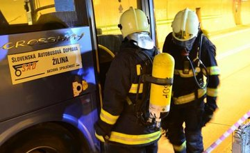 Cvičenie žilinských hasičov v tuneli Horelica v Čadci