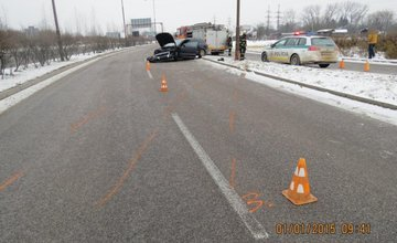 Dopravná nehoda na Nový rok na výjazde zo Žiliny