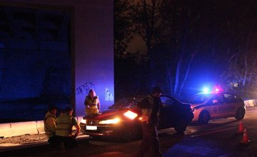 Dopravná nehoda pod mostom na Rosinskej ceste - 3.5.2014