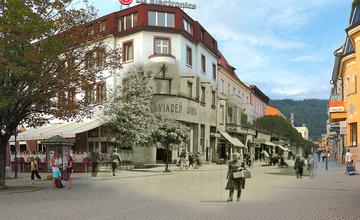 Historické fotografie Farské schody Žilina