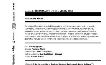 Opití - divadelné predstavenie Mestské divadlo Žilina