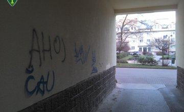 Poškodzovanie fasády objektov maľovaním grafitov