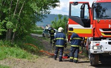Požiar holubiarskej chaty v Trnovom 24.mája 2014