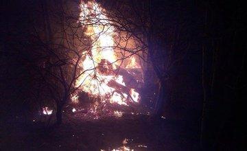 Požiar humna v Belej 11.3.2014