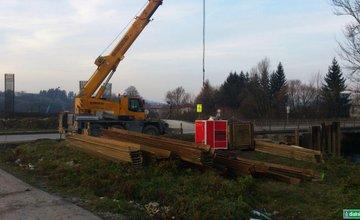 Práce na diaľnici D1 pri Lietavskej Lúčke