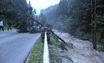 Silná búrka v obci Terchová 21.7.2014