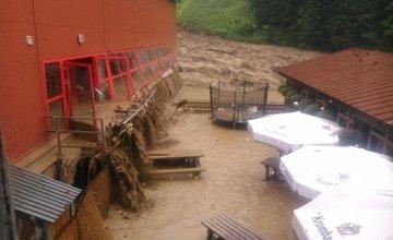 Silná búrka v Terchovej a Vrátnej - 21.7.2014