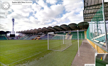 Štadión MŠK Žilina na Google mapách
