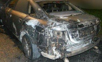 V Martine neznámy páchateľ podpálil motorové vozidlo