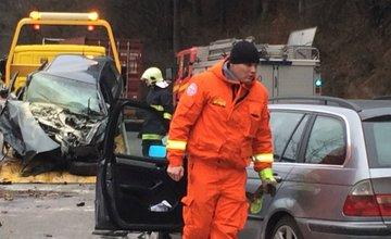 Vážna dopravná nehoda pod Strečnom 16.1.2015