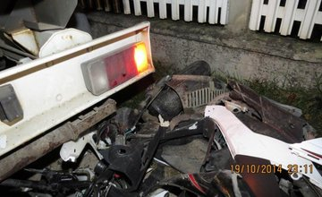 Vážna nehoda motocyklistu v obci Poluvsie