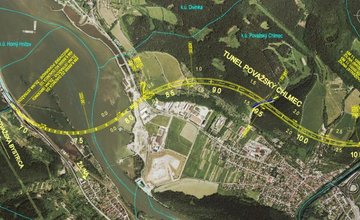 Vizualizácia úseku diaľnice D3 Žilina, Strážov – Žilina, Brodno