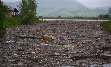 Vodné dielo Žilina po výdatných dažďoch 17.mája 2014