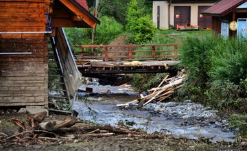 Vrátna dolina po búrkovej smršti - 22.7.2014