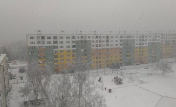 Výdatné sneženie 30.1.2015 v Žiline