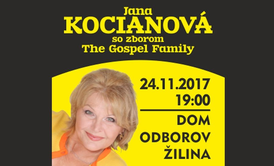 Foto: Jana Kocianova so zborom The Gospel Family
